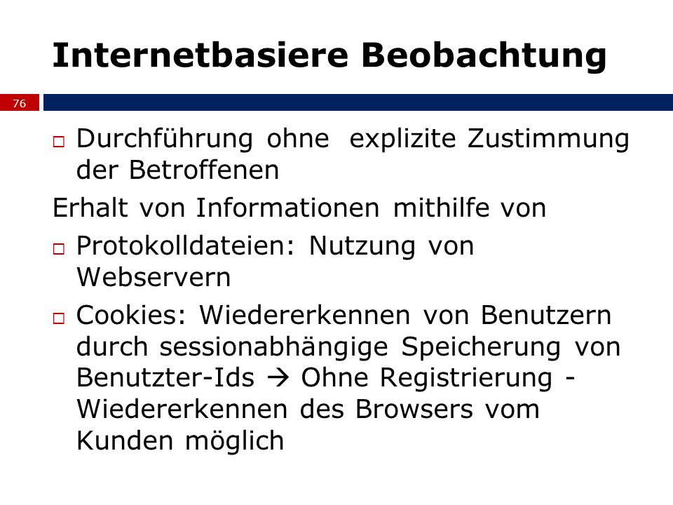 Internetbasiere Beobachtung