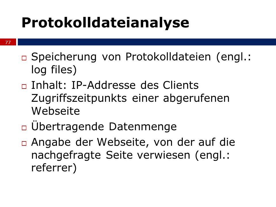 Protokolldateianalyse