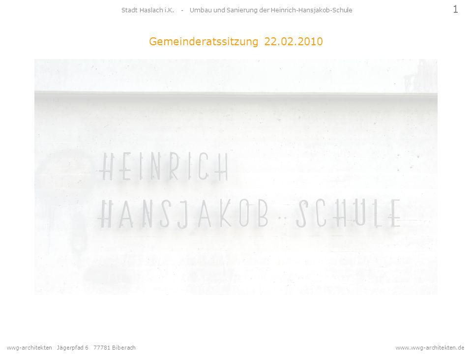 Stadt Haslach i.K. - Umbau und Sanierung der Heinrich-Hansjakob-Schule