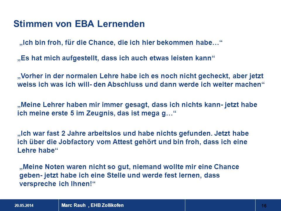 Stimmen von EBA Lernenden