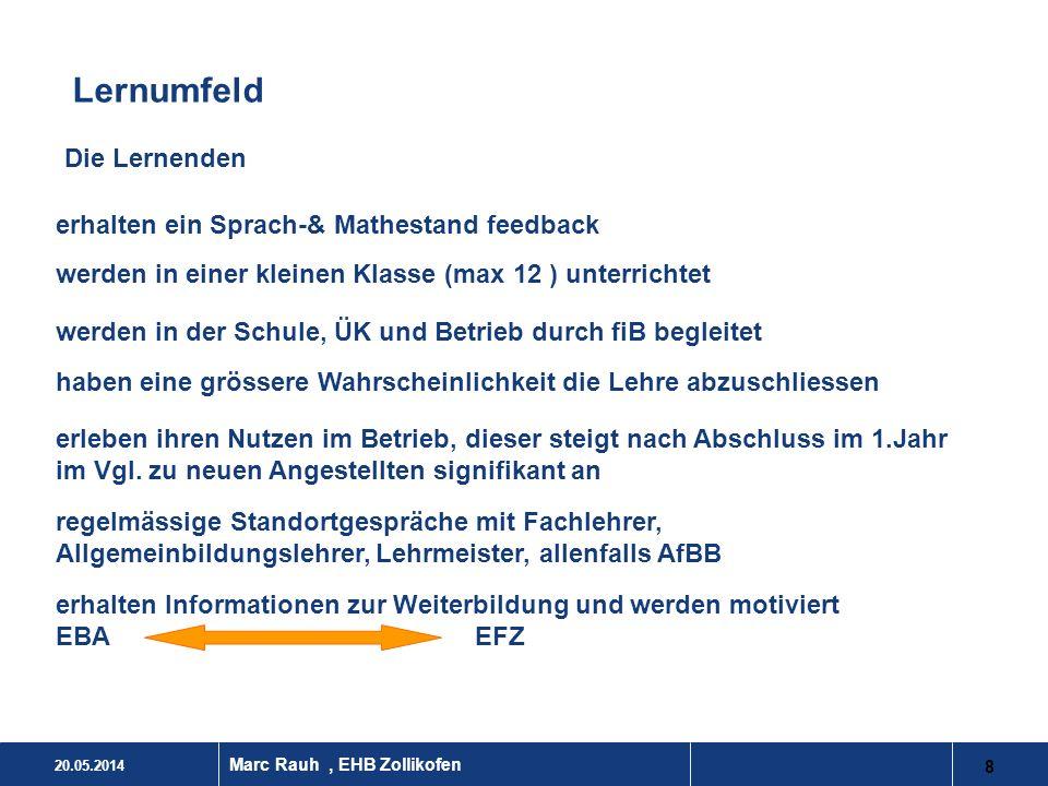 Lernumfeld Die Lernenden erhalten ein Sprach-& Mathestand feedback