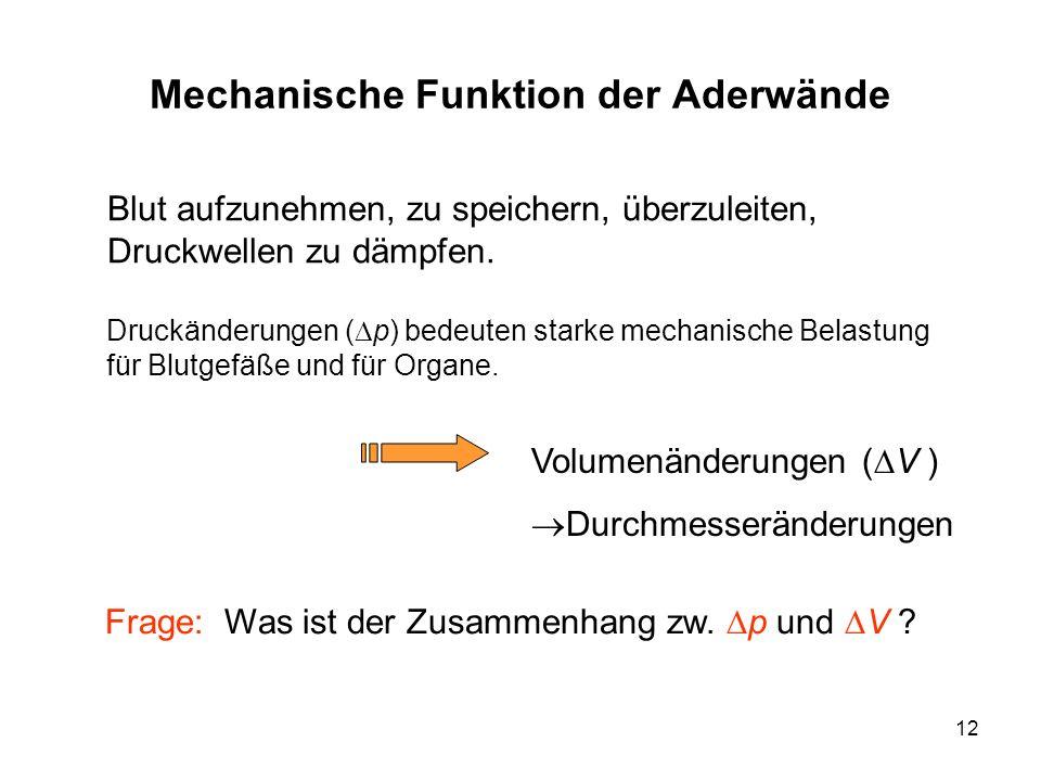 Mechanische Funktion der Aderwände