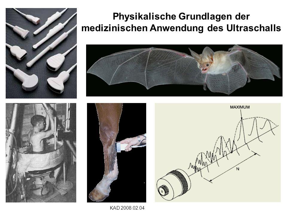 Physikalische Grundlagen der medizinischen Anwendung des Ultraschalls