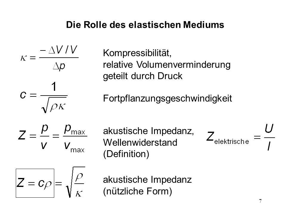 Die Rolle des elastischen Mediums