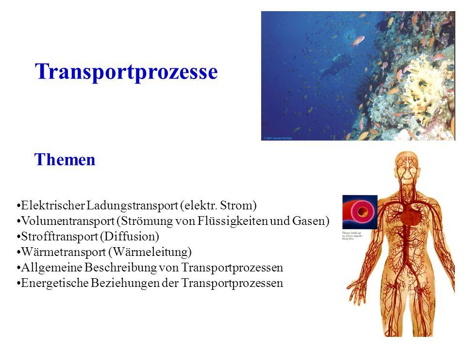 Transportprozesse Themen Elektrischer Ladungstransport (elektr. Strom)