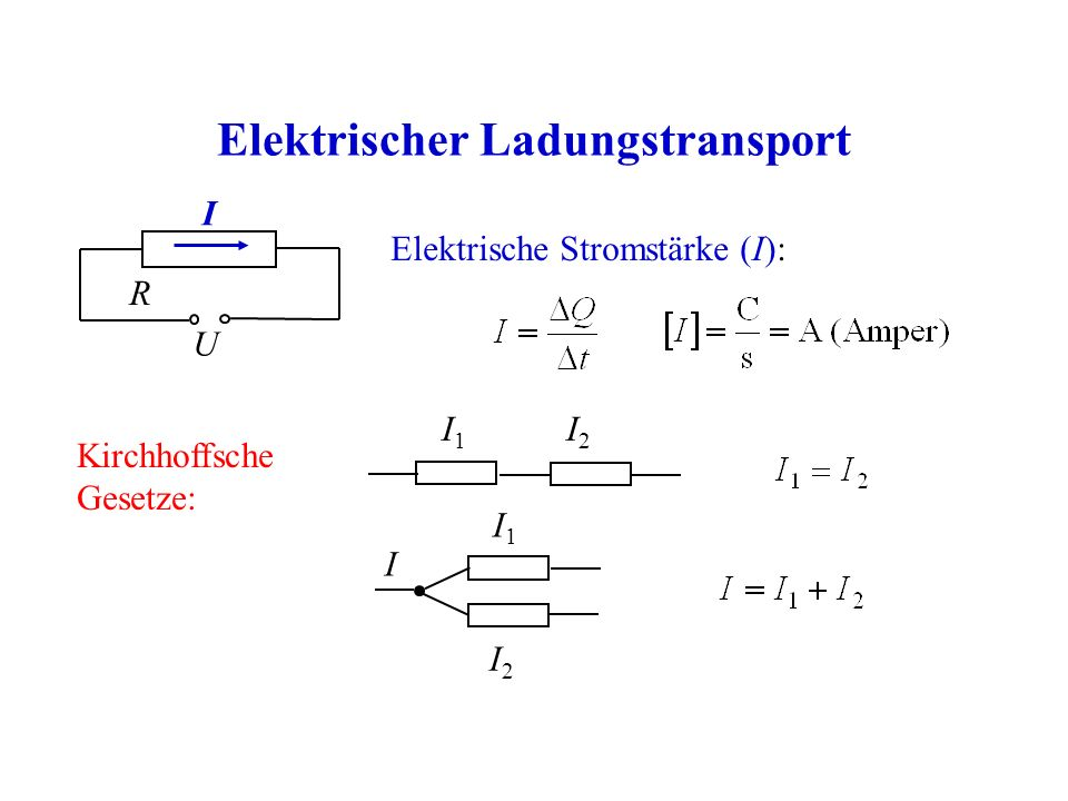 Elektrischer Ladungstransport