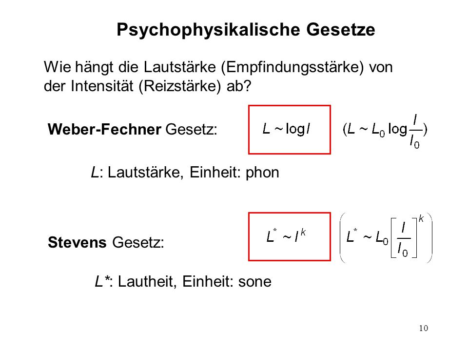 Psychophysikalische Gesetze