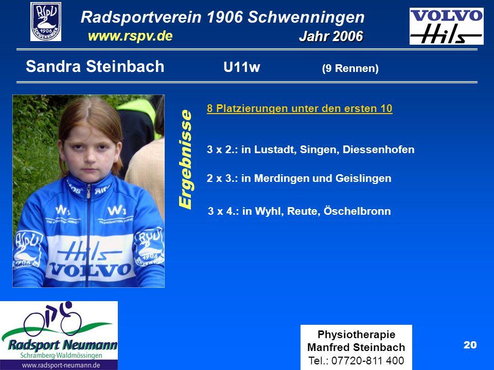 Sandra Steinbach U11w (9 Rennen)