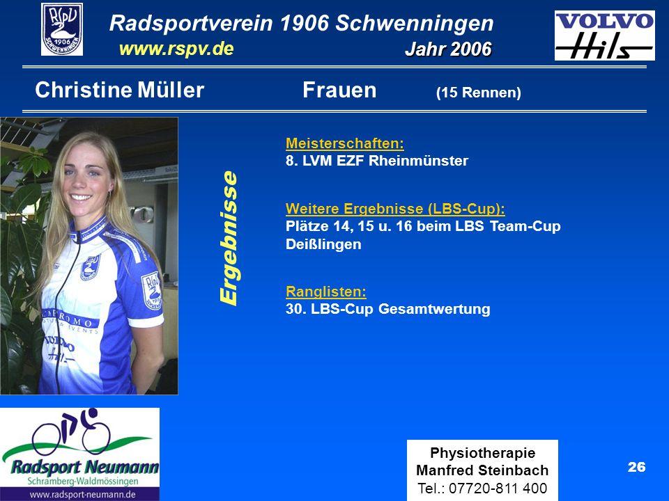 Christine Müller Frauen (15 Rennen)