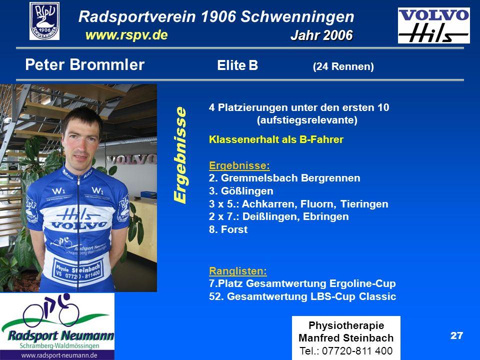 Peter Brommler Elite B (24 Rennen)
