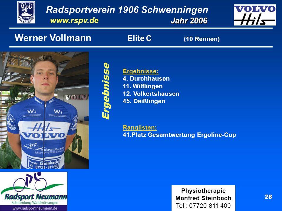 Werner Vollmann Elite C (10 Rennen)