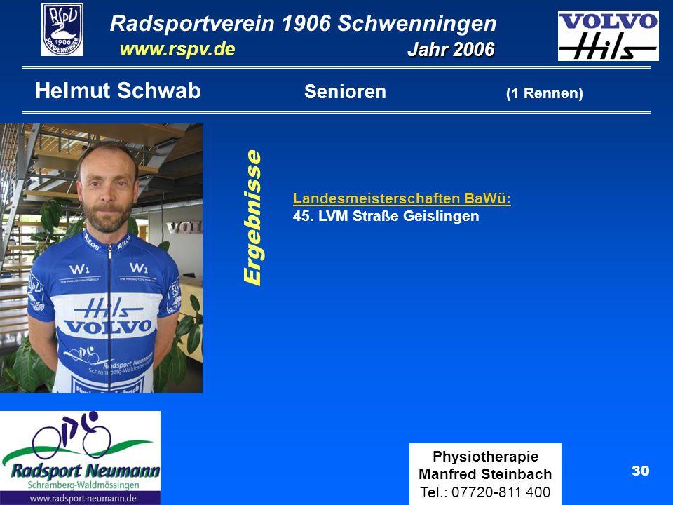 Helmut Schwab Senioren (1 Rennen)