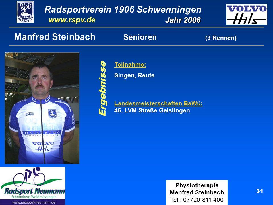 Manfred Steinbach Senioren (3 Rennen)