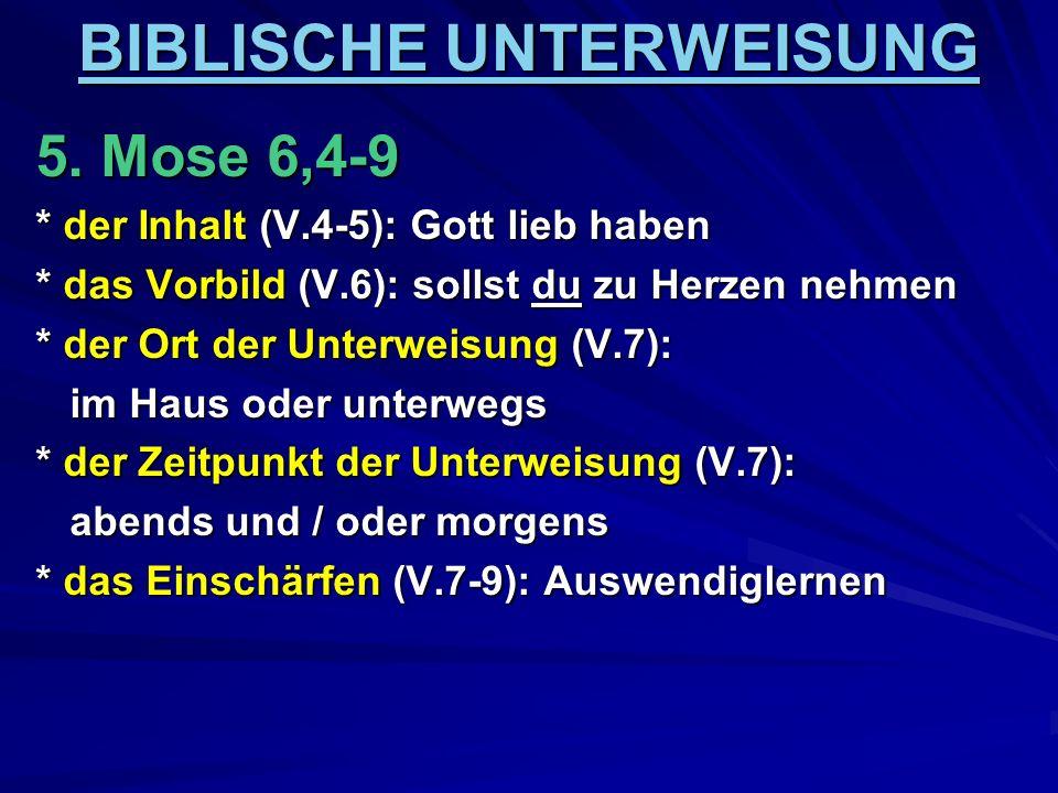 BIBLISCHE UNTERWEISUNG