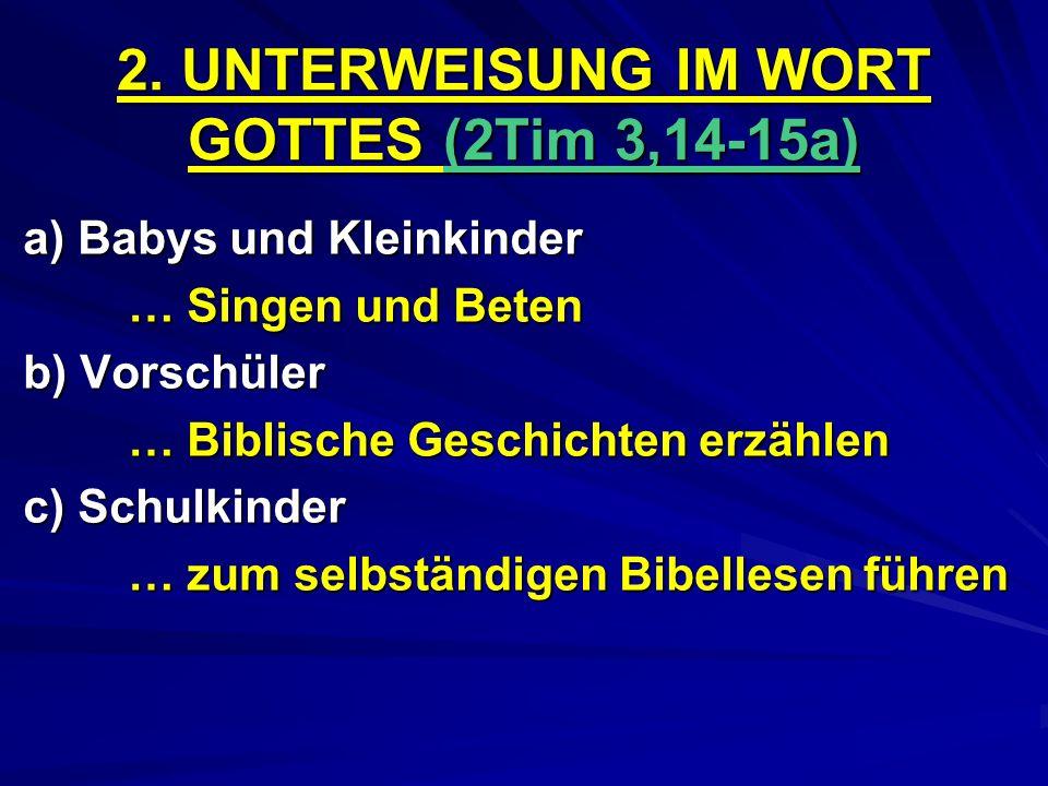 2. UNTERWEISUNG IM WORT GOTTES (2Tim 3,14-15a)