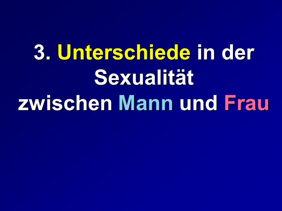 3. Unterschiede in der Sexualität zwischen Mann und Frau