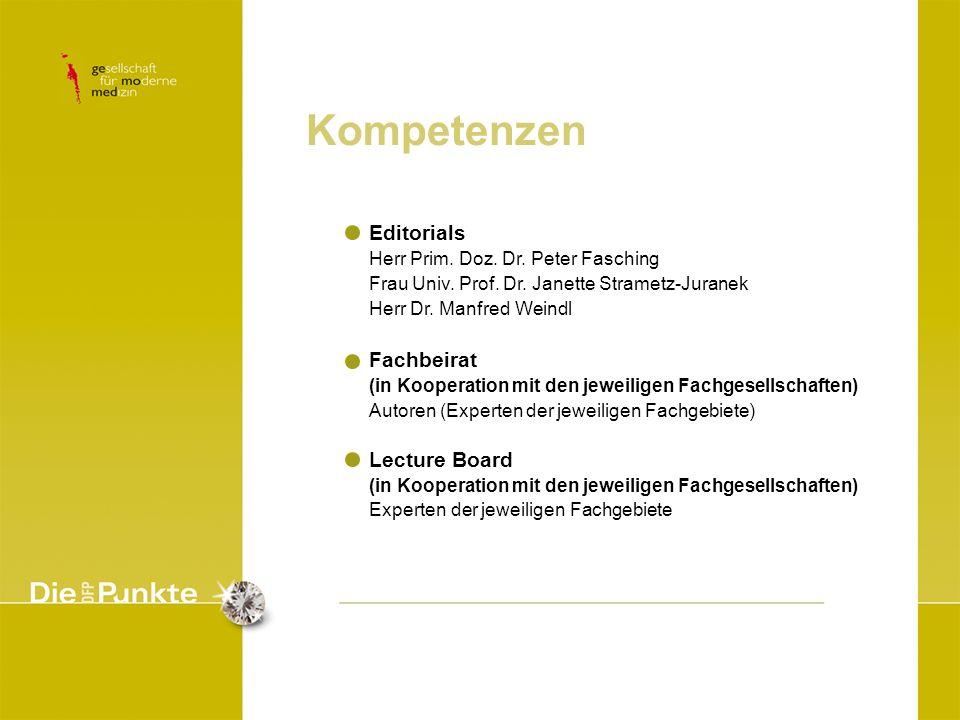 Kompetenzen Editorials Fachbeirat Lecture Board