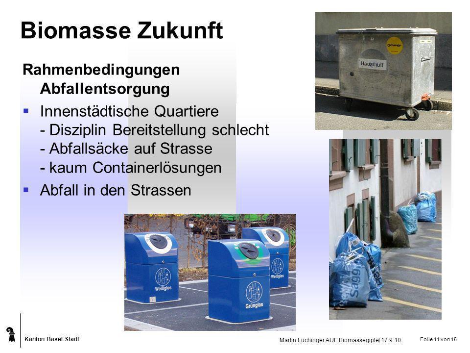 Biomasse Zukunft Rahmenbedingungen Abfallentsorgung