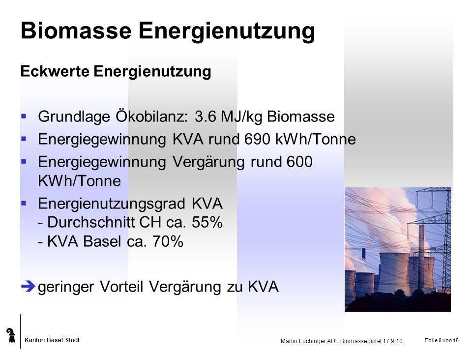 Biomasse Energienutzung
