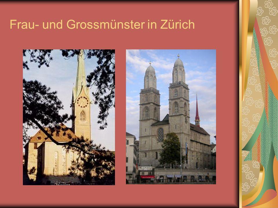 Frau- und Grossmünster in Zürich