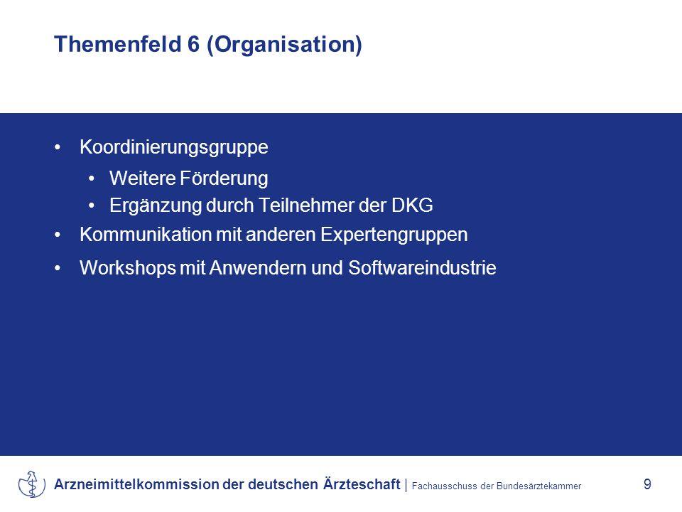 Themenfeld 6 (Organisation)