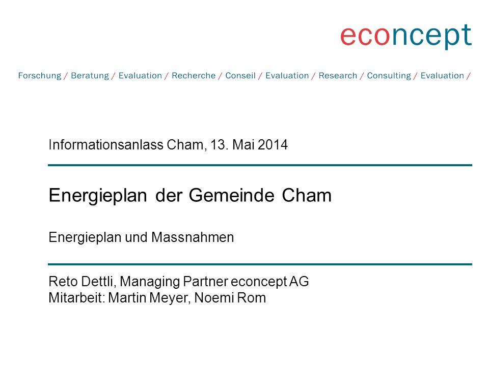 Energieplan der Gemeinde Cham Energieplan und Massnahmen