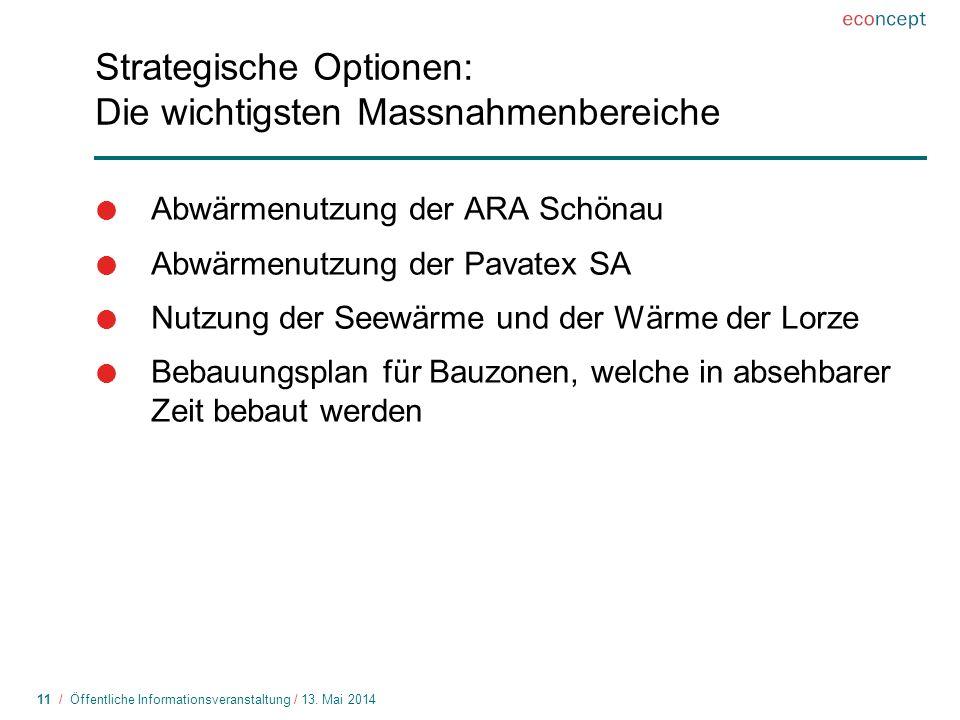 Strategische Optionen: Die wichtigsten Massnahmenbereiche