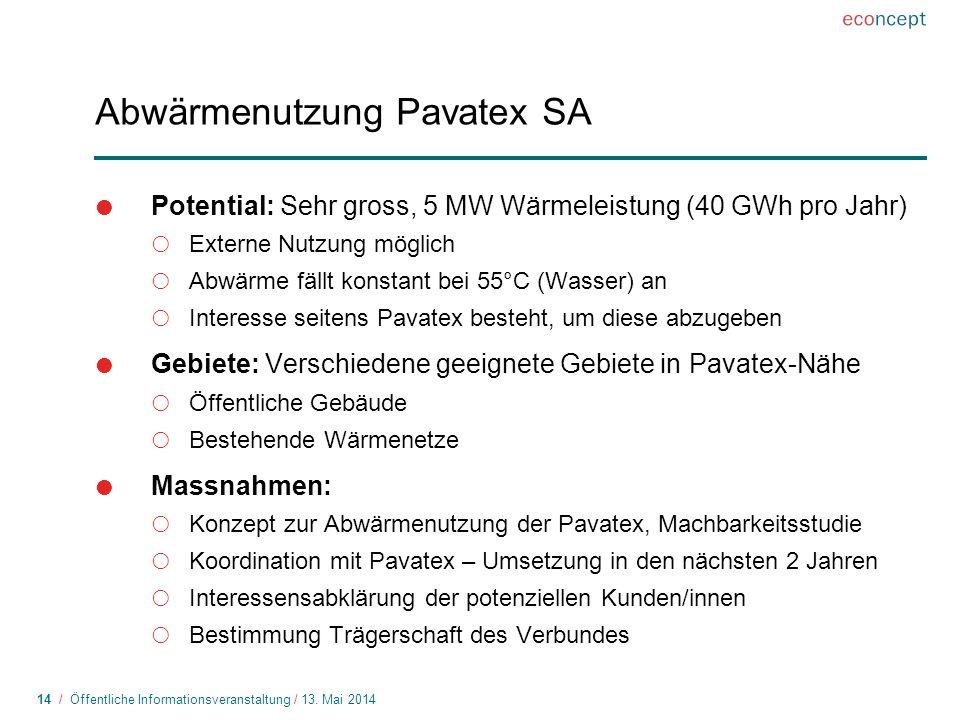 Abwärmenutzung Pavatex SA