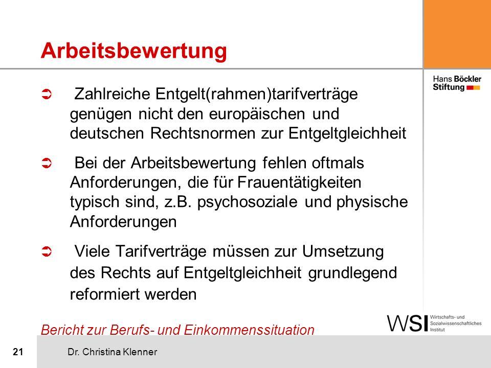 Arbeitsbewertung Zahlreiche Entgelt(rahmen)tarifverträge genügen nicht den europäischen und deutschen Rechtsnormen zur Entgeltgleichheit.