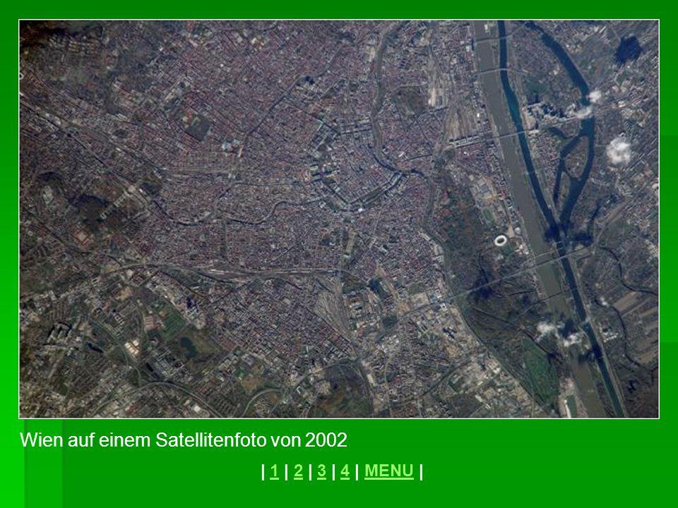 Wien auf einem Satellitenfoto von 2002