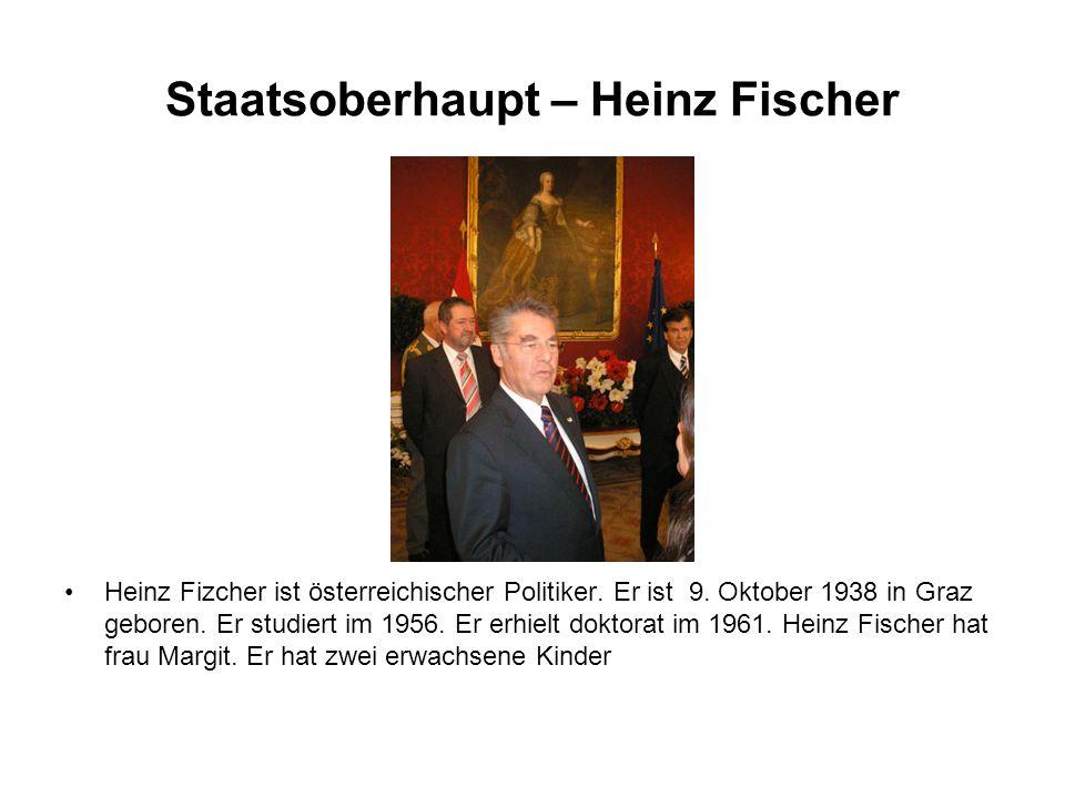 Staatsoberhaupt – Heinz Fischer