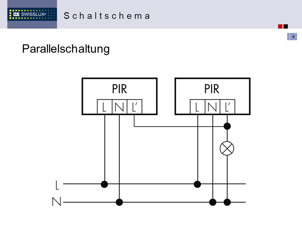 Parallelschaltung S c h a l t s c h e m a