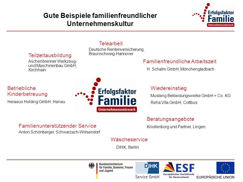 Gute Beispiele familienfreundlicher Unternehmenskultur
