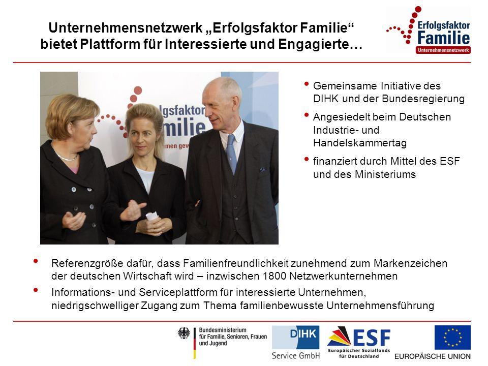 """Unternehmensnetzwerk """"Erfolgsfaktor Familie bietet Plattform für Interessierte und Engagierte…"""