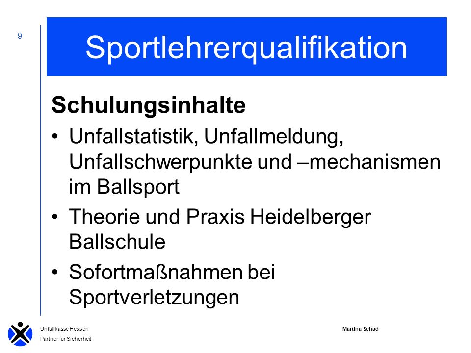Sportlehrerqualifikation