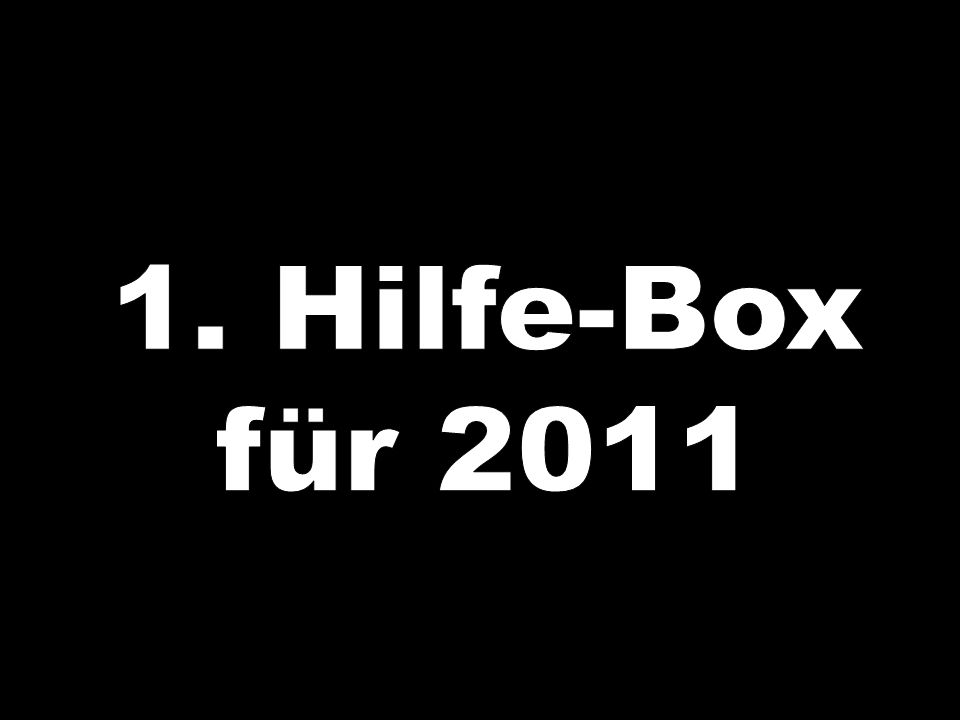 1. Hilfe-Box für 2011