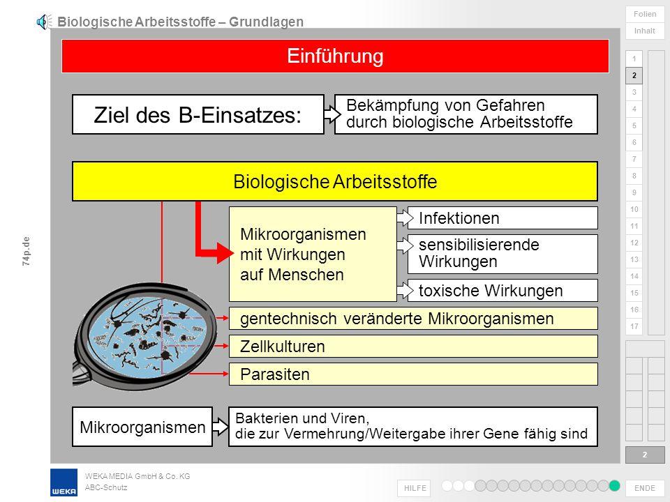 Biologische Arbeitsstoffe – Grundlagen
