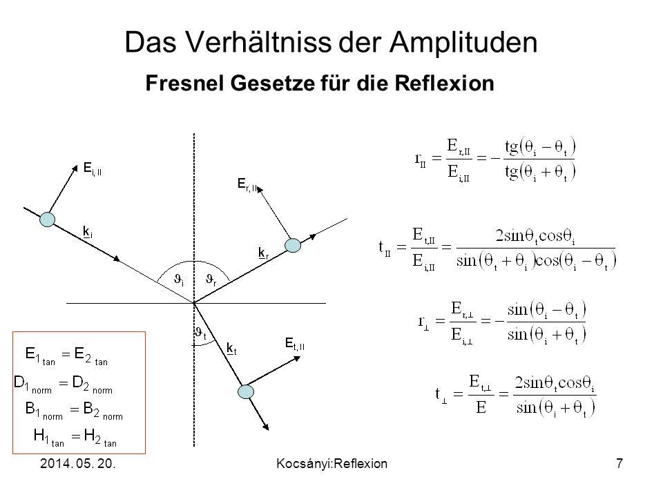 Das Verhältniss der Amplituden