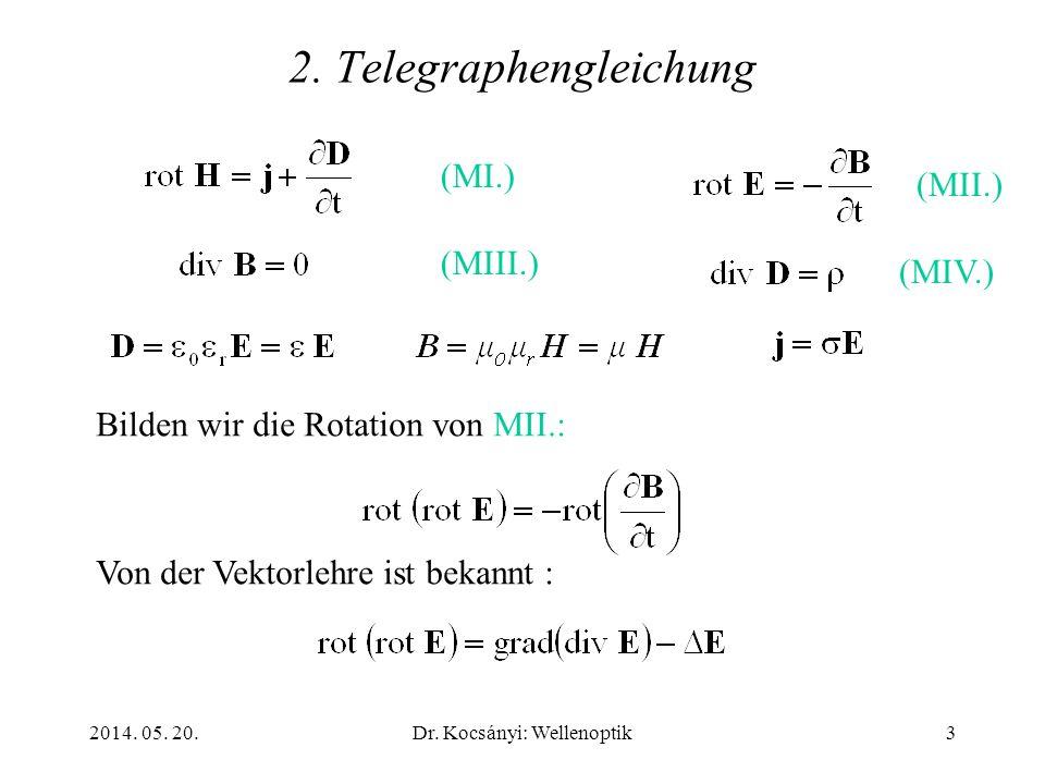 2. Telegraphengleichung
