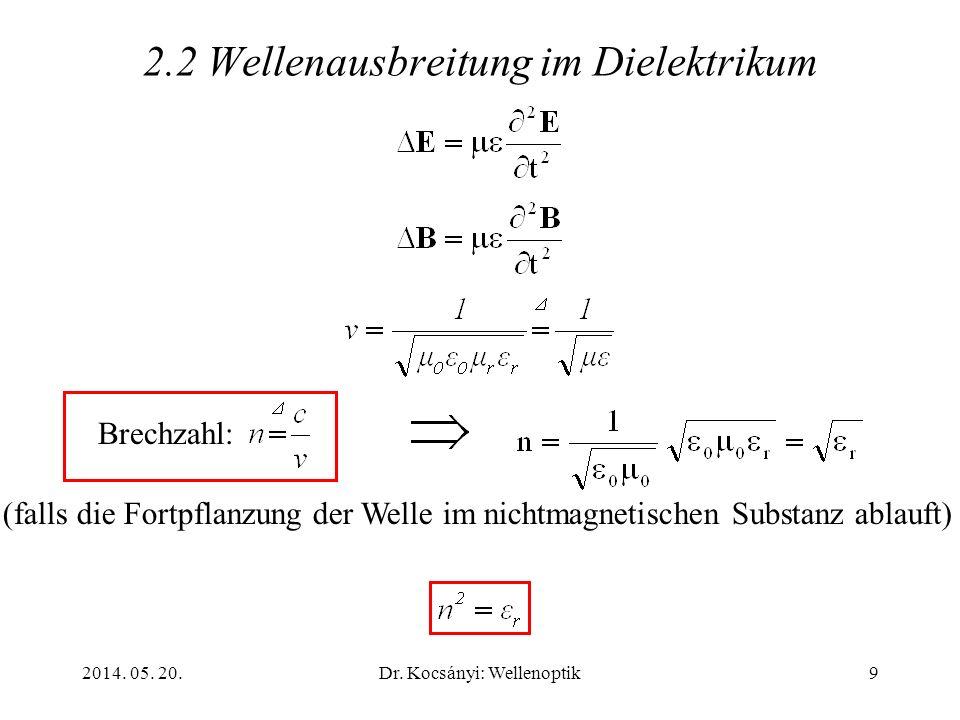 2.2 Wellenausbreitung im Dielektrikum