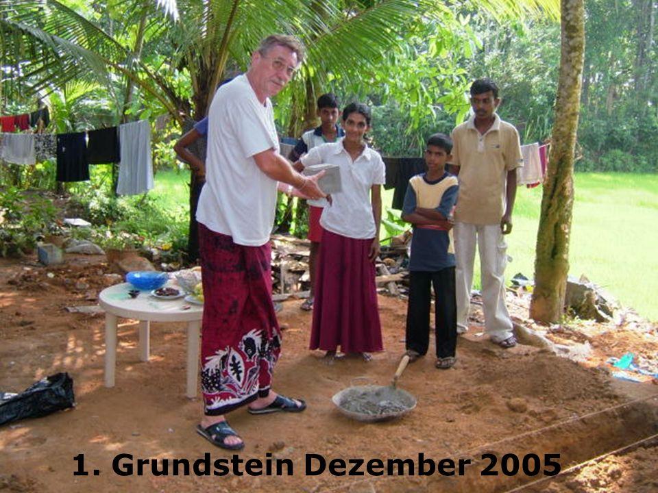 1. Grundstein Dezember 2005