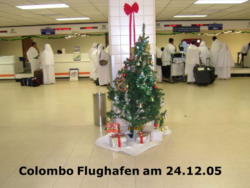Colombo Flughafen am 24.12.05