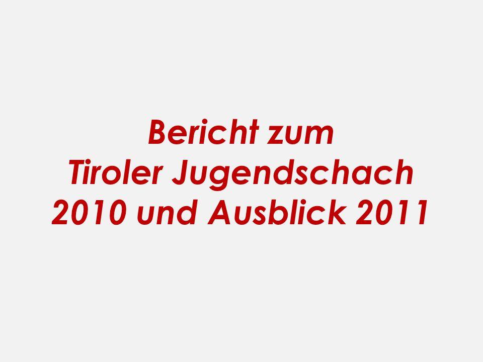 Bericht zum Tiroler Jugendschach 2010 und Ausblick 2011