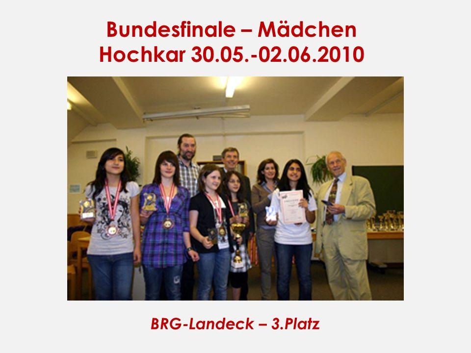Bundesfinale – Mädchen Hochkar 30.05.-02.06.2010