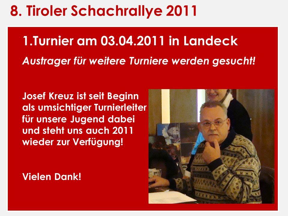 8. Tiroler Schachrallye 2011 1.Turnier am 03.04.2011 in Landeck