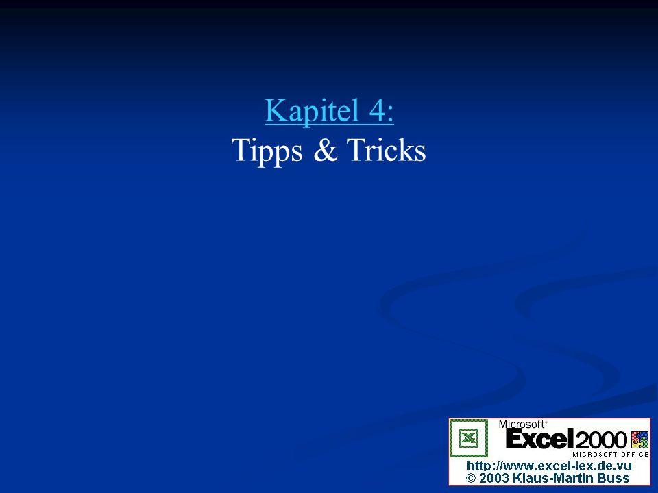Kapitel 4: Tipps & Tricks