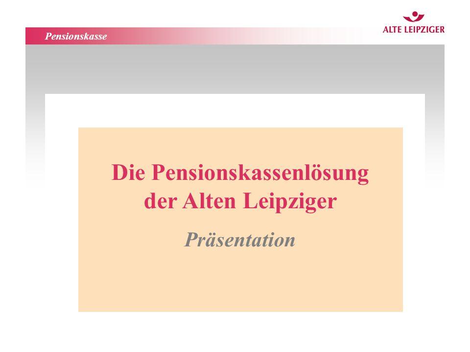 Die Pensionskassenlösung der Alten Leipziger
