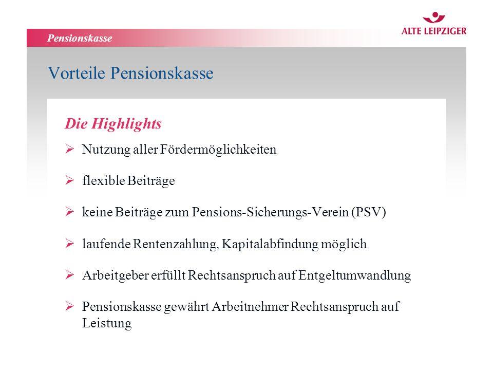Vorteile Pensionskasse