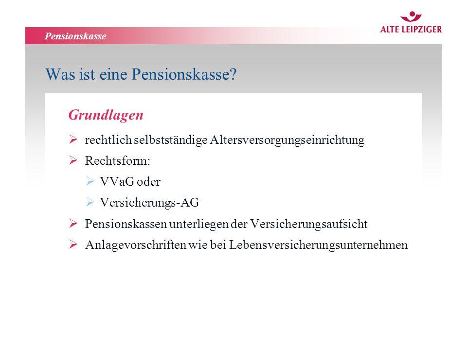 Was ist eine Pensionskasse
