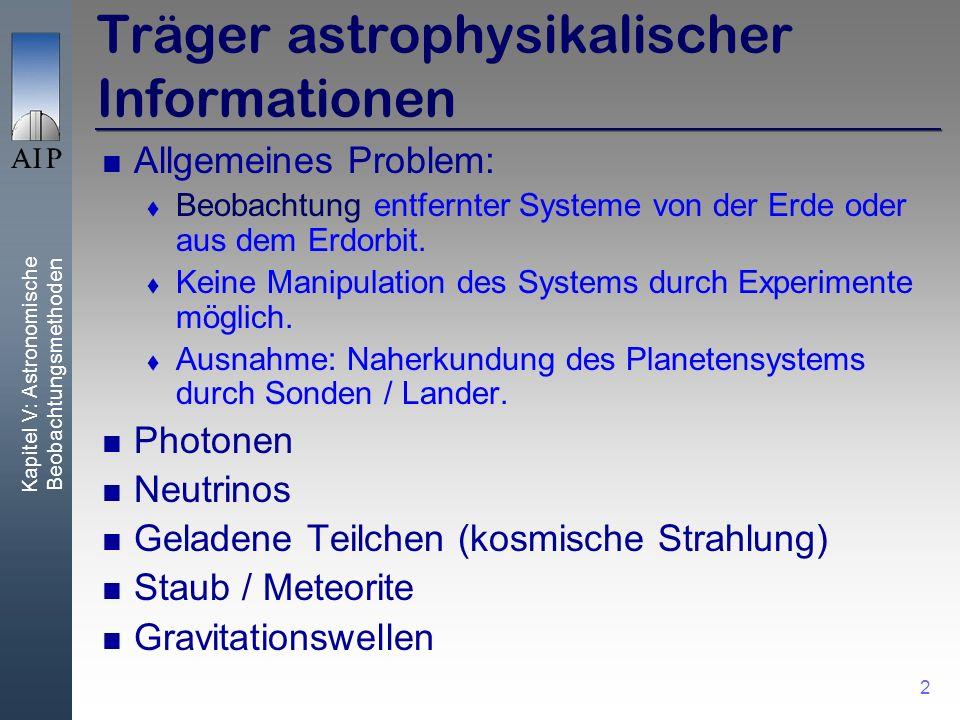 Träger astrophysikalischer Informationen